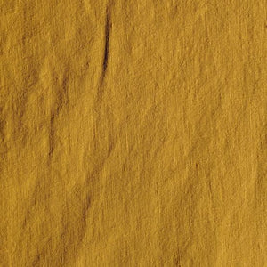 Midweight Washed Linen - Mustard - 1/2 metre