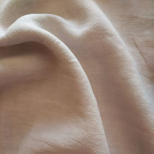 Midweight Washed Linen - Petal - 1/2 metre