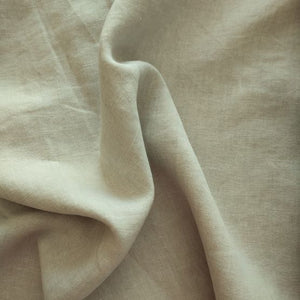 Midweight Washed Linen - Sand - 1/2 metre