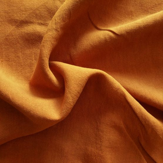 Midweight Washed Linen - Spice - 1/2 metre