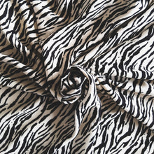 Load image into Gallery viewer, Viscose Micro Crepe Print - Sand/Black - 1/2 metre