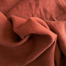 Load image into Gallery viewer, Midweight Washed Linen - Marsala - 1/2 metre