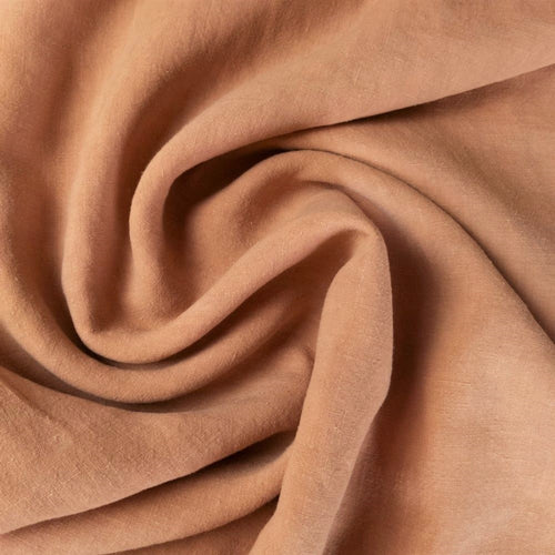Midweight Washed Linen - Salmon - 1/2 metre