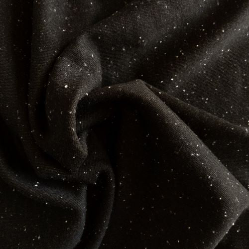 Norway Fleece - Black/White - 1/2 metre