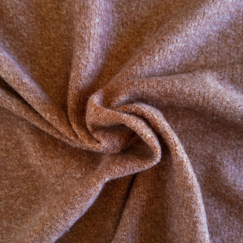 Ribbed Sweater Knit - Cinnamon - 1/2 meter