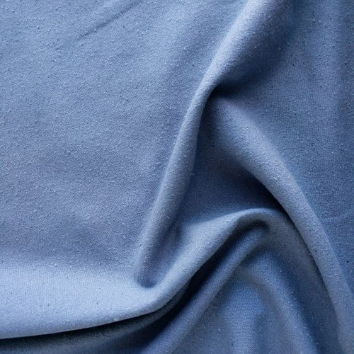 100% Silk Noil - Denim - 1/2 metre