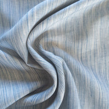 Load image into Gallery viewer, Striated Yarn Dyed Linen - Blue - 1/2 metre