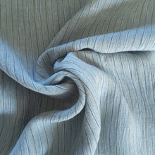 Load image into Gallery viewer, Striped Washed Linen - Blue - 1/2 metre