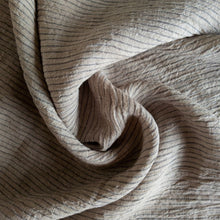 Load image into Gallery viewer, Striped Washed Linen - Dune - 1/2 metre