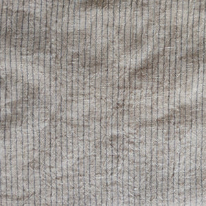 Striped Washed Linen - Dune - 1/2 metre