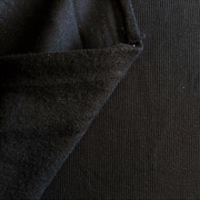 Load image into Gallery viewer, Sweatshirt Ribbing - Black - 1/2 metre