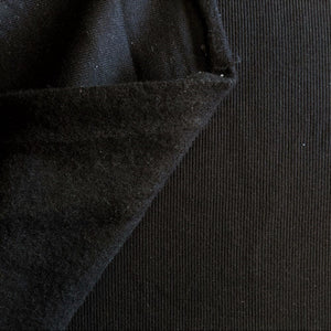 Sweatshirt Ribbing - Black - 1/2 metre