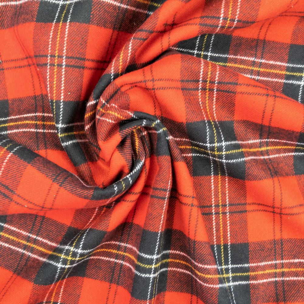 Tahoe Flannel - Red Check - 1/2 metre
