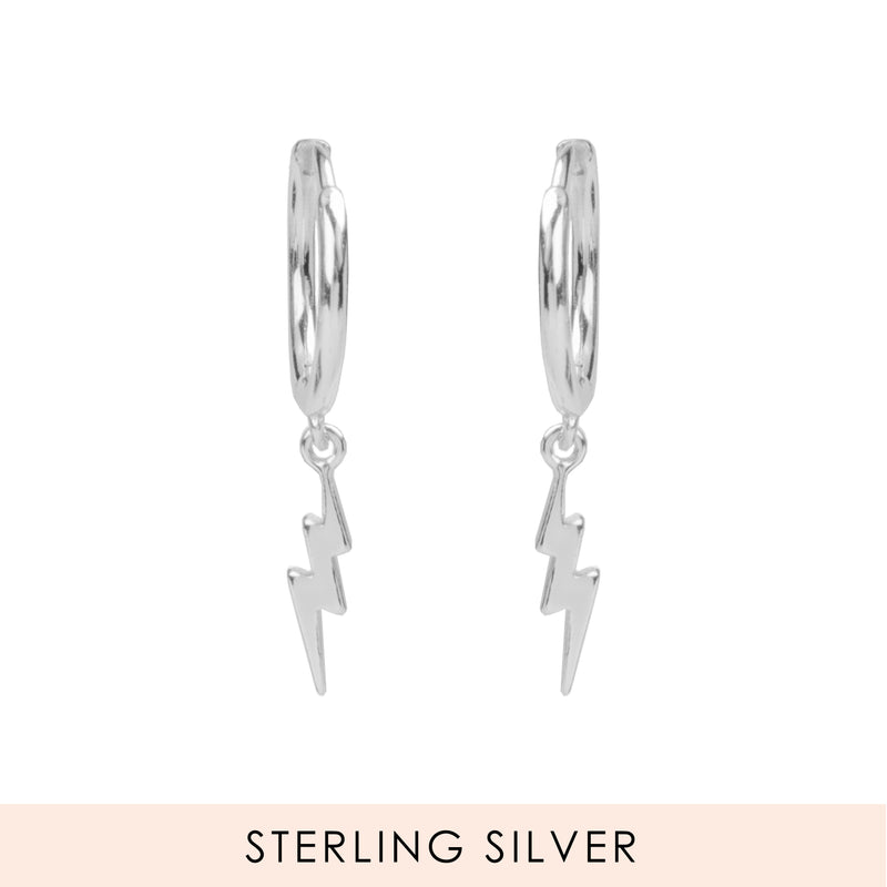Electrified Hoops Silber