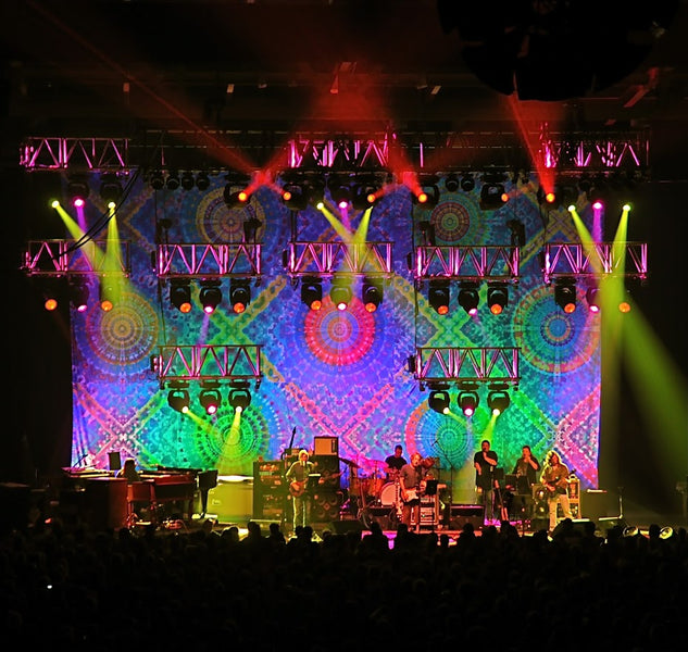 2010 Furthur stage backdrop by Courtenay Pollock