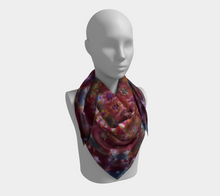 Load image into Gallery viewer, Mandala Scarf 100% Natural Silk #6276