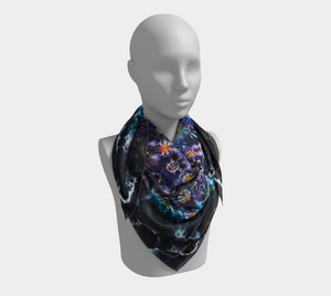 Mandala Scarf 100% Natural Silk #5807 - 'Orion's Crown'