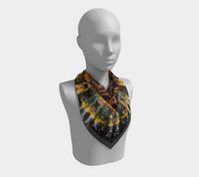 Load image into Gallery viewer, Mandala Scarf 100% Natural Silk #6249