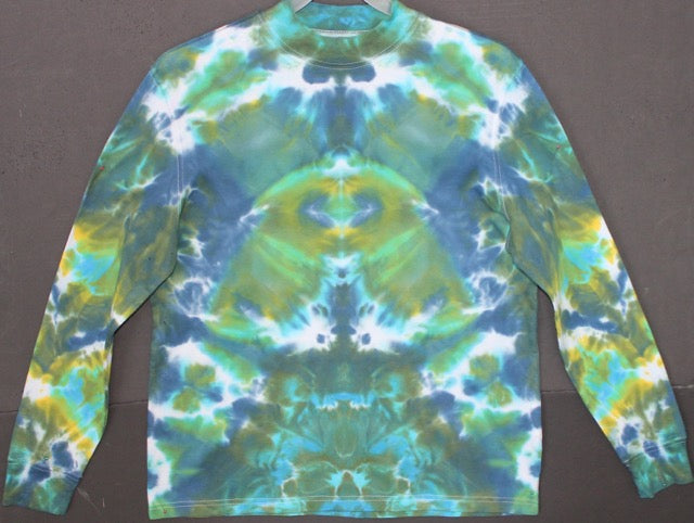 Men's tie dye longsleeved shirt M #1420