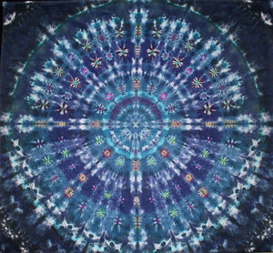 "'Azure Twilight' Mandala 90""x 96"" #2823"
