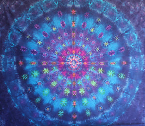 "'Fireworks Night' Mandala 84""X88"" #5359"
