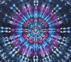 "Electric Serenity Mandala 78""X90"" #5974"