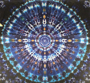 "'Ripples in the Cosmic Stream' Mandala 90""X96"" # 6465"