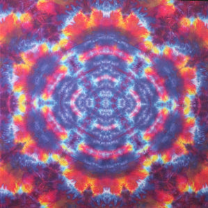 "'Blazing Mandala' art panel Mandlala 28""X28""  #6495"
