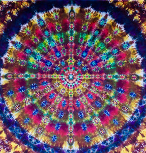 "'Celebration of Life' Mandala  Dedicated to Robert Hunter 94""X90"" #6622"