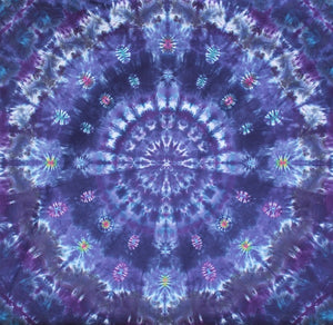 "'Purple Heart Theme Mandala' 6""X6'  #6854"