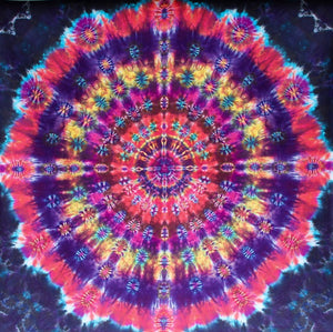 "Joyful Gaia Mandala 90""X90"" #7055 - My Flagship Piece to Date"