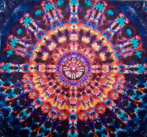 "'March Sunshine' Mandala 80""X88""  #7196"