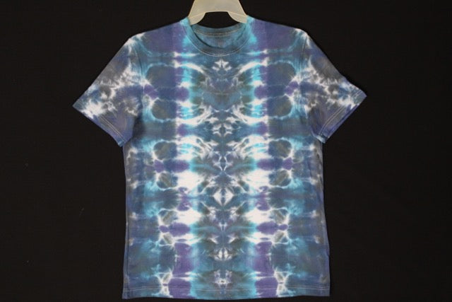 Men's reg. T shirt Large #8516. Totems design. Stellar Blue series. $75