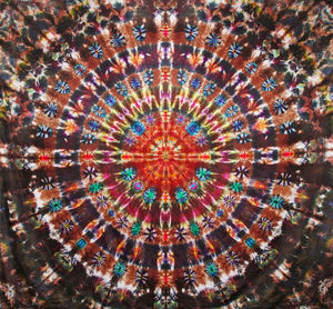 "'Harvest Moon Eclipse' Mandala 92""x96"" # 8655"
