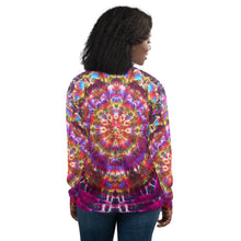 Load image into Gallery viewer, 'Transcendant Orchidaceae' Unisex Bomber Jacket (Polyester)