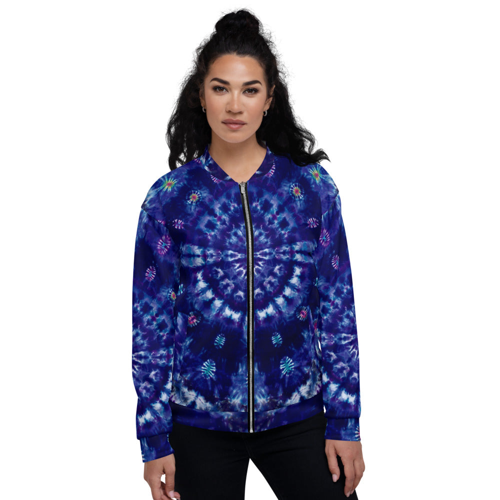 'Purple Heart' Unisex Bomber Jacket (Polyester)