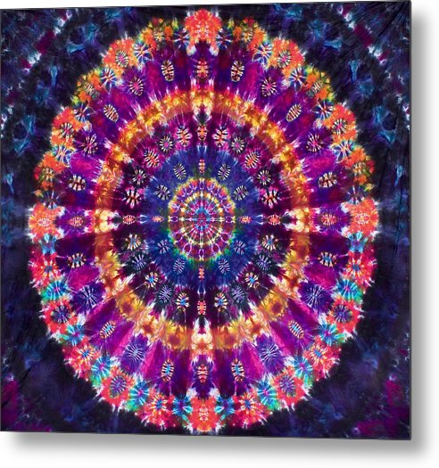 Autumn Sunshine Mandala - Metal Print