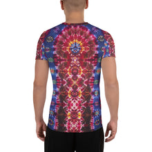 Load image into Gallery viewer, 'Cosmic Portal' - Art Print Men's Athletic T-shirt (Body fitted)