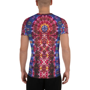 'Cosmic Portal' - Art Print Men's Athletic T-shirt (Body fitted)