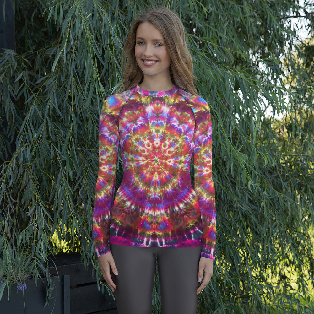 Transcendant Orchidaceae' Women's Rash Guard