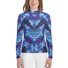 Load image into Gallery viewer, Out of the Abyss' Youth Rash Guard