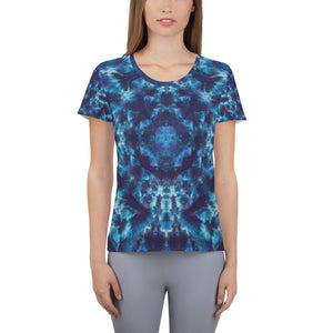 Heavenly Host' All-Over Print Women's Athletic T-shirt (Slim Fit)