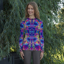 Load image into Gallery viewer, Ruby Timewarp' Women's Rash Guard