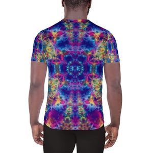 'Ruby Timewarp' All-Over Print Men's Athletic T-shirt (Slim Fit)