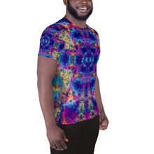 Load image into Gallery viewer, 'Ruby Timewarp' All-Over Print Men's Athletic T-shirt (Slim Fit)