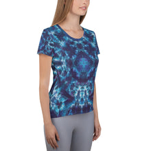 Load image into Gallery viewer, Heavenly Host' All-Over Print Women's Athletic T-shirt (Slim Fit)