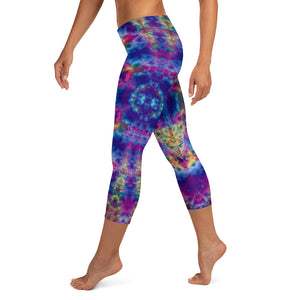 'Ruby Timewarp' Capri Leggings