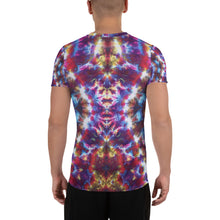 Load image into Gallery viewer, Gargoyle Guardian' All-Over Print Men's Athletic T-shirt (Slim Fit)