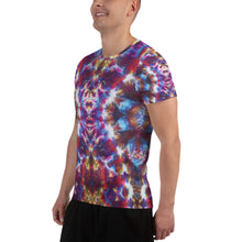Load image into Gallery viewer, 'Gargoyle Guardian' All-Over Print Men's Athletic T-shirt (Slim Fit)