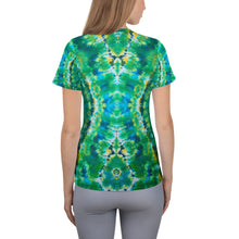 Load image into Gallery viewer, 'Emerald Isles' All-Over Print Women's Athletic T-shirt (Slim Fit)